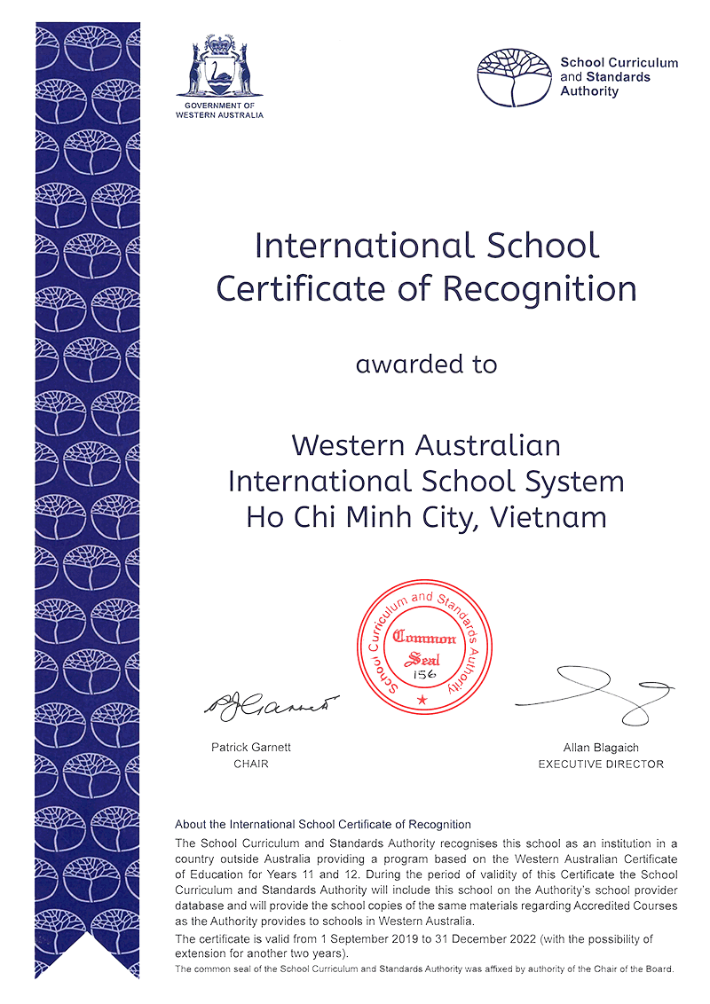 International School Certification of Recognition