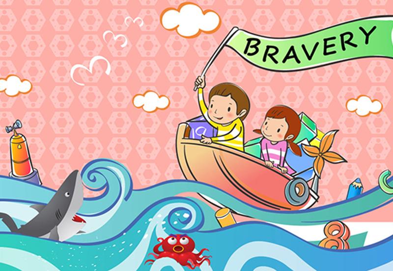 giáo dục con lòng dũng cảm