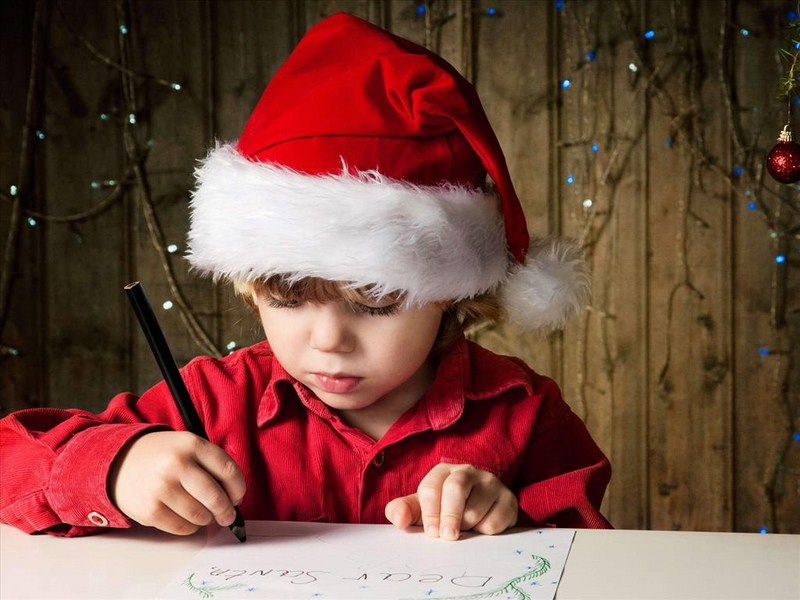 Children are eager to write letters to Santa Claus