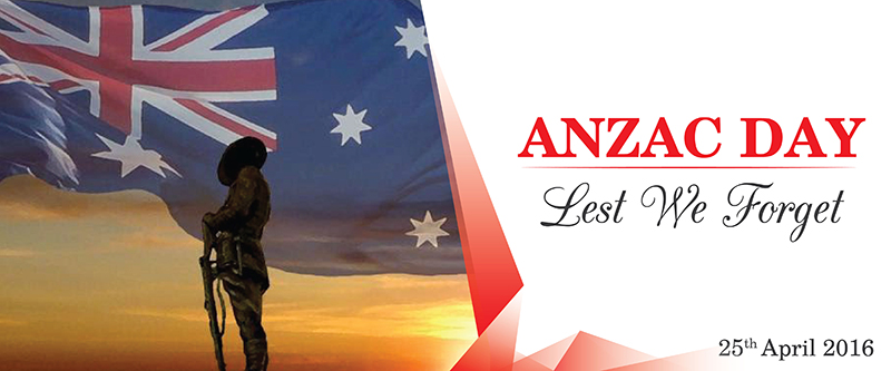 ANZAC Day 2016 Commemoration at WASS