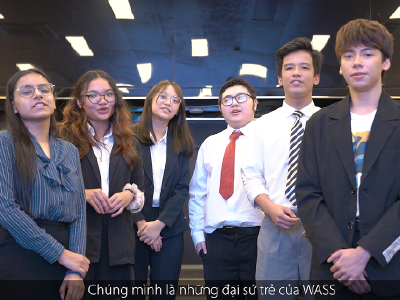 WASS 'Young Ambassadors' talk about the Cyberbullying concern.