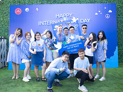WASS filled with blue shade in Shaping Peace Together week